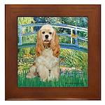 Bridge / Cocker Spaniel (buff) Framed Tile