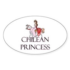 Chilean Princess Oval Decal