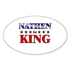 NATHEN for king Oval Decal