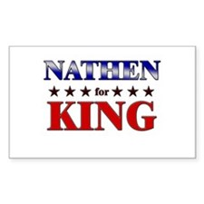 NATHEN for king Rectangle Decal