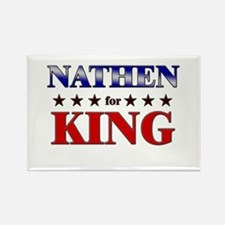 NATHEN for king Rectangle Magnet