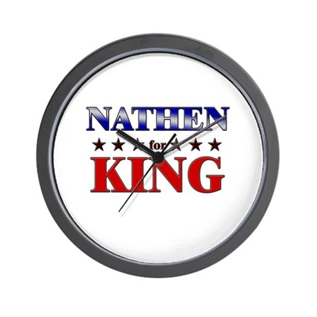 NATHEN for king Wall Clock