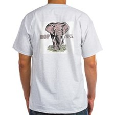 Republicans Rule Elephant Ash Grey T-Shirt