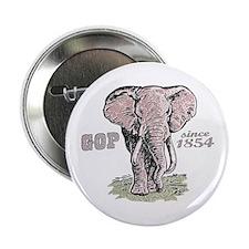 """Republicans Rule Elephant 2.25"""" Button (10 pack)"""