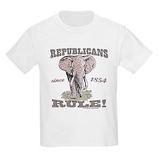 Republicans Rule Elephant Kids T-Shirt