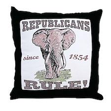 Republicans Rule Elephant Throw Pillow