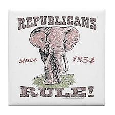 Republicans Rule Elephant Tile Coaster