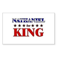 NATHANIEL for king Rectangle Decal