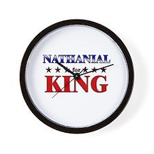NATHANIAL for king Wall Clock
