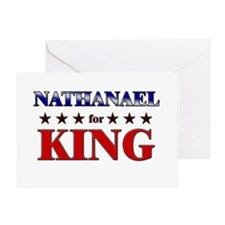 NATHANAEL for king Greeting Card