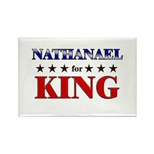 NATHANAEL for king Rectangle Magnet