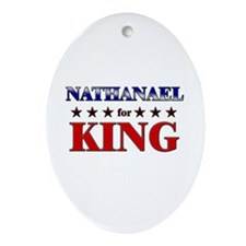 NATHANAEL for king Oval Ornament