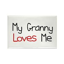 My Granny Loves Me Rectangle Magnet