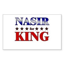 NASIR for king Rectangle Decal
