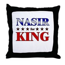 NASIR for king Throw Pillow