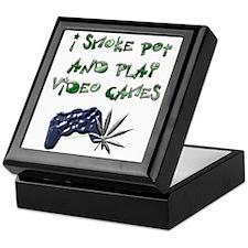 """I Smoke Pot and Play Video G Keepsake Box"