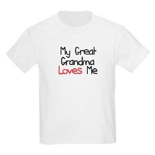 My Great Grandma Loves Me T-Shirt