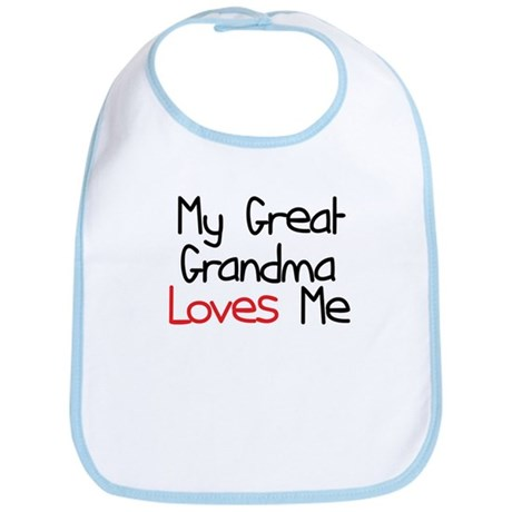 My Great Grandma Loves Me Baby Bib