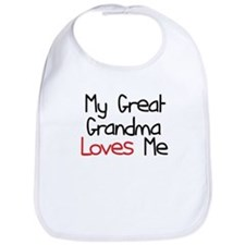 My Great Grandma Loves Me Baby Bib