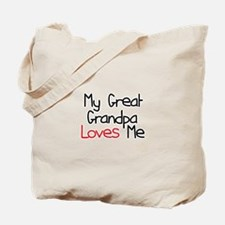 My Great Grandpa Loves Me Tote Bag