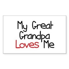 My Great Grandpa Loves Me Rectangle Decal