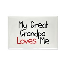 My Great Grandpa Loves Me Rectangle Magnet