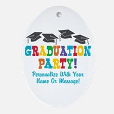 Graduation Party Oval Ornament
