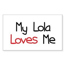 My Lola Loves Me Rectangle Decal