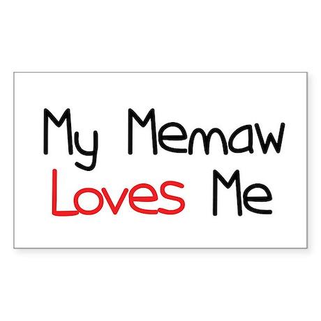 My Memaw Loves Me Rectangle Sticker