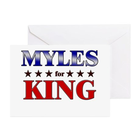 MYLES for king Greeting Cards (Pk of 20)