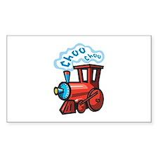 Choo Choo Train Rectangle Decal