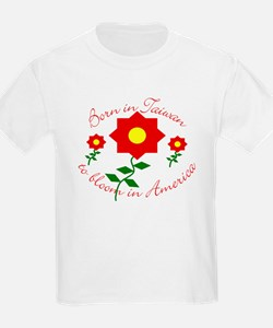 Born in Taiwan to bloom in American T-Shirt