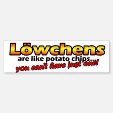 Potato Chips Lowchen Bumper Bumper Bumper Sticker