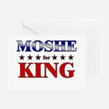 MOSHE for king Greeting Card
