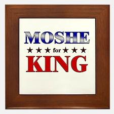 MOSHE for king Framed Tile