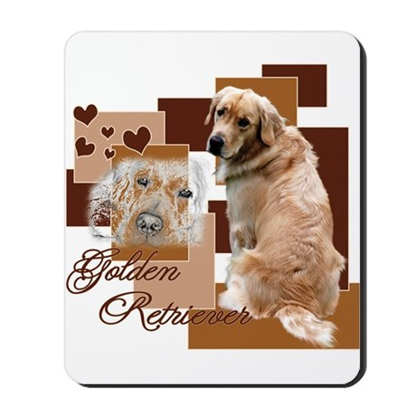 Golden Squared Mousepad