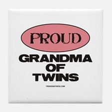 Grandma of Twins - Tile Coaster
