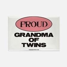 Grandma of Twins - Rectangle Magnet