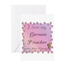 Pinscher Shopping Greeting Card