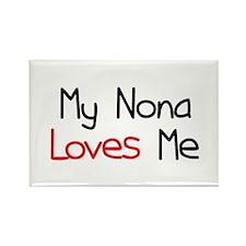My Nona Loves Me Rectangle Magnet