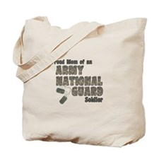 National Guard Mom (tags) Tote Bag