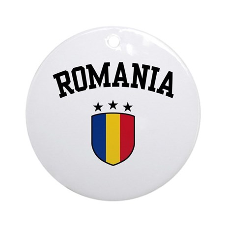 Romania Ornament (Round)
