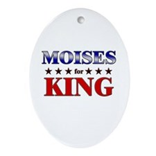 MOISES for king Oval Ornament