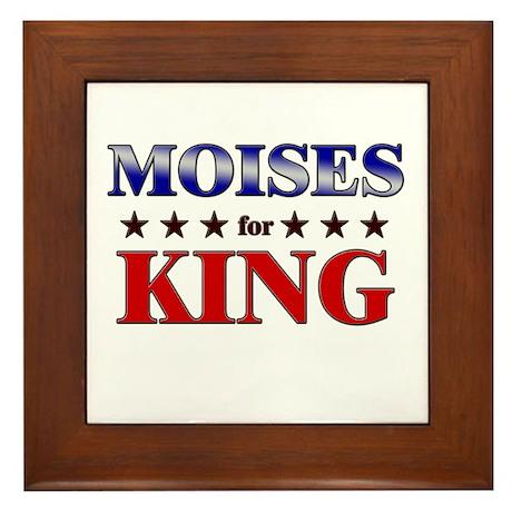 MOISES for king Framed Tile