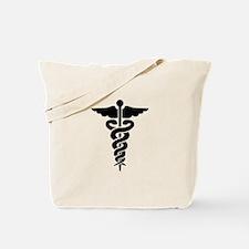 Medical Symbol Caduceus Tote Bag