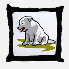 WHITE PUPPY Throw Pillow