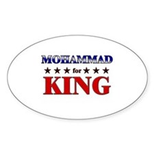 MOHAMMAD for king Oval Decal