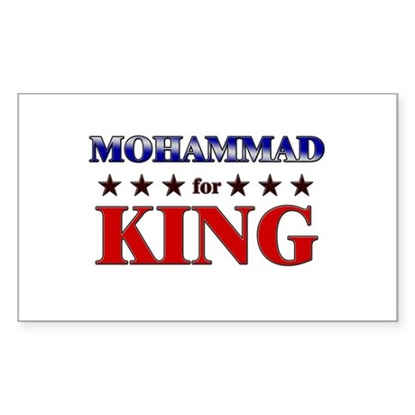 MOHAMMAD for king Rectangle Sticker