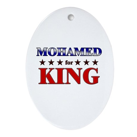 MOHAMED for king Oval Ornament