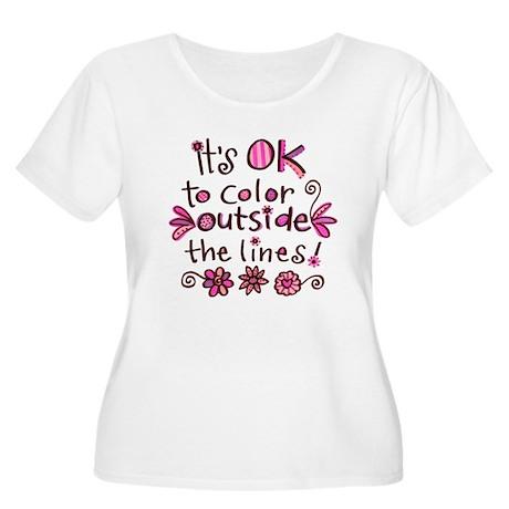 Color Outside the Lines Women's Plus Size Scoop Ne